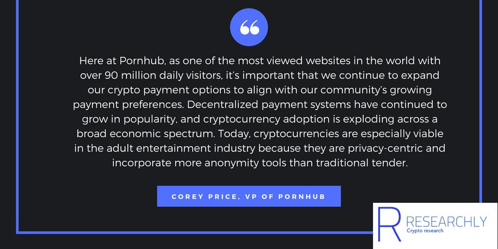 Corey Price, VP of Pornhub on cryptocurrencies